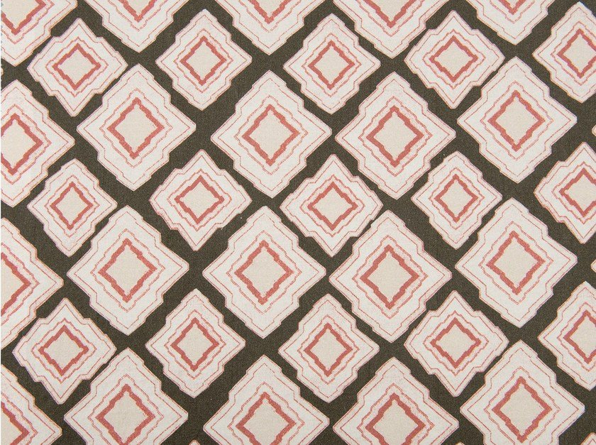 Cotton fabric with graphic pattern SHANNYN PATCH - KOHRO