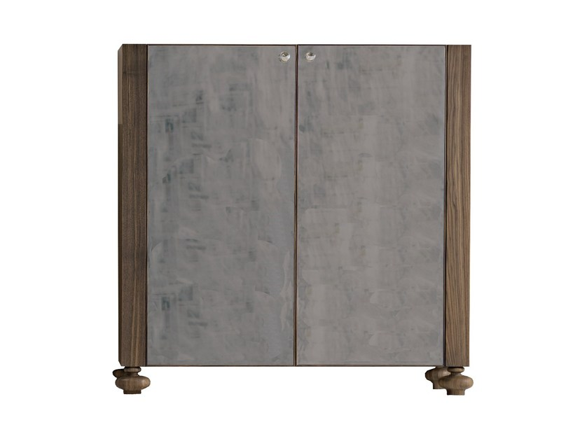 Lacquered highboard with doors GRAY 65 - Gervasoni
