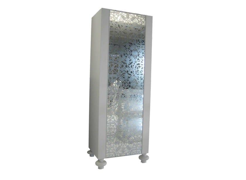 Freestanding storage unit with mirrored door GRAY 66 - Gervasoni