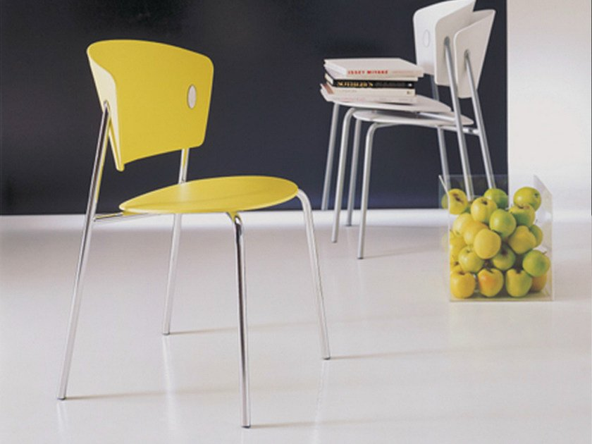 Polypropylene chair GIÒ | Stackable chair by Bontempi Casa