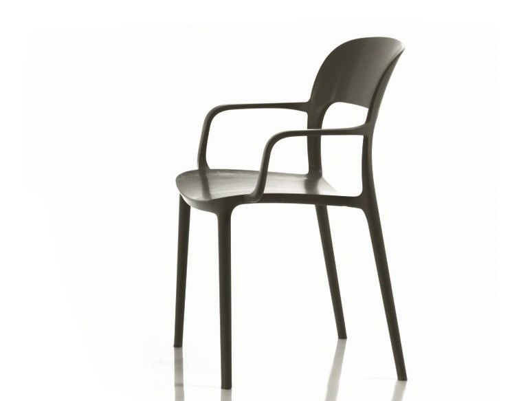 Stackable polypropylene chair GIPSY | Chair with armrests - Bontempi Casa