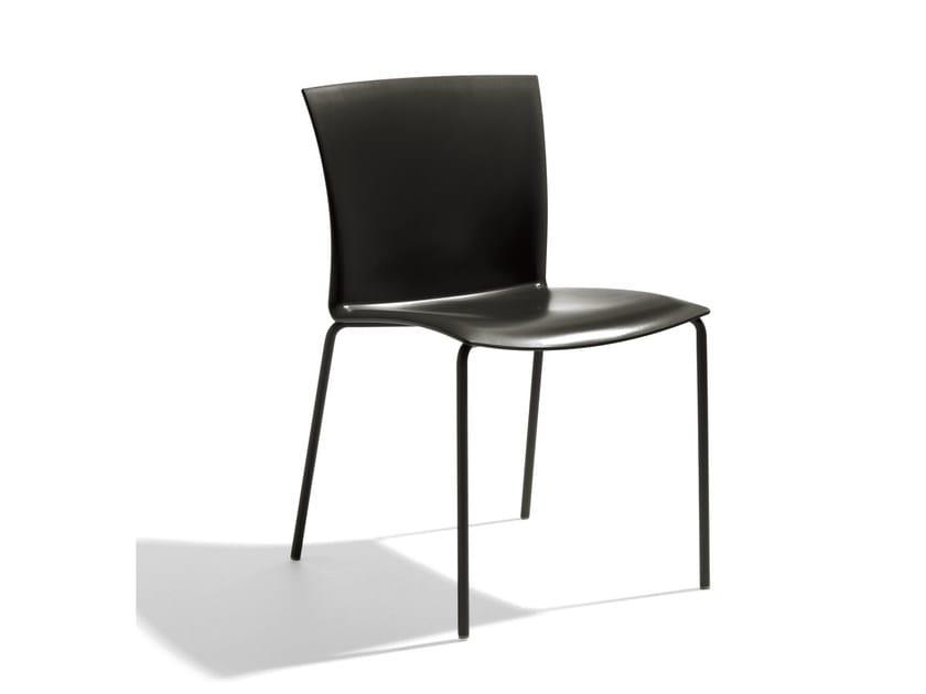 Stackable polypropylene chair FUTURA by Bontempi Casa