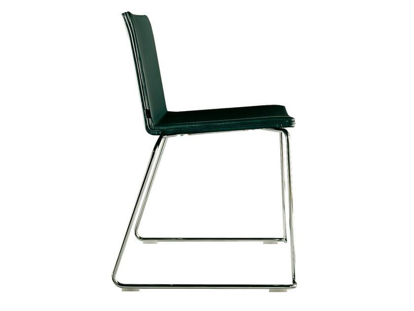 Sled base plastic chair NEX | Sled base chair - Poliform