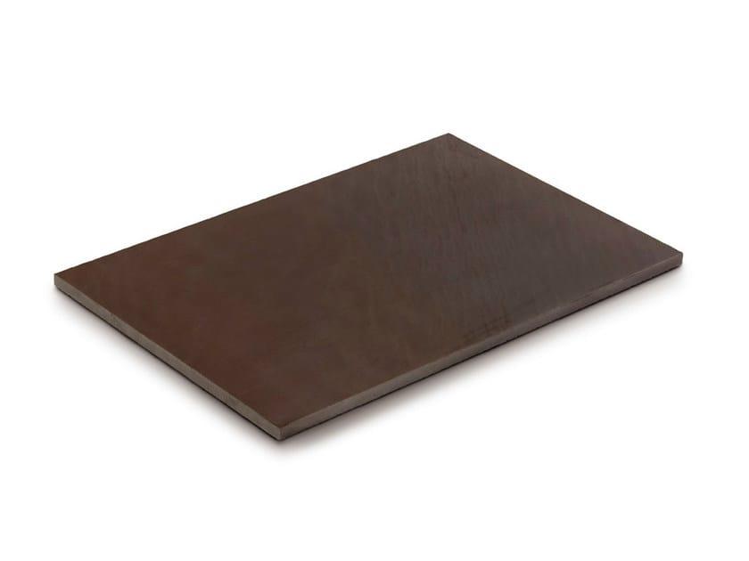 Calcareous stone outdoor floor tiles AUTUMN BROWN by GRANULATI ZANDOBBIO