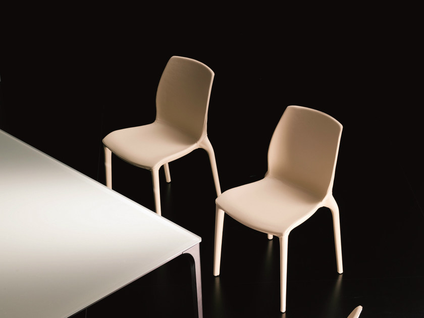 Stackable chair HIDRA | Leather chair - Bontempi Casa
