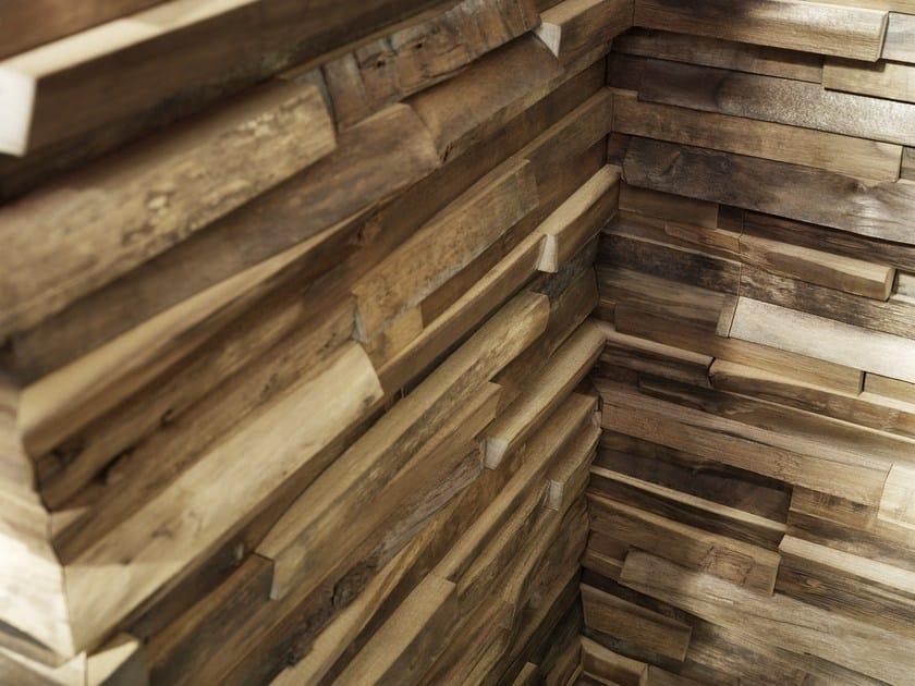 Rev tement mural 3d en bois massif pour int rieur - Revetement mural interieur en bois ...