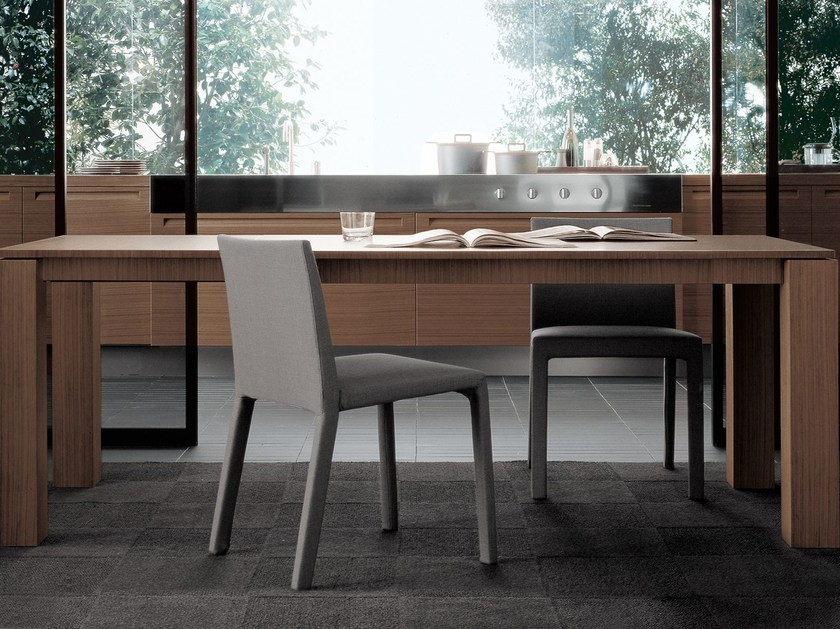 Rectangular wood veneer table DOLMEN DUE | Rectangular table by poliform