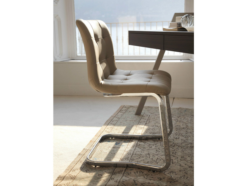 Cantilever upholstered chair KUGA | Cantilever chair - Bontempi Casa