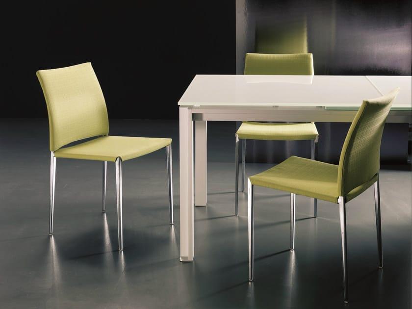 Upholstered tanned leather chair KIDA - Bontempi Casa