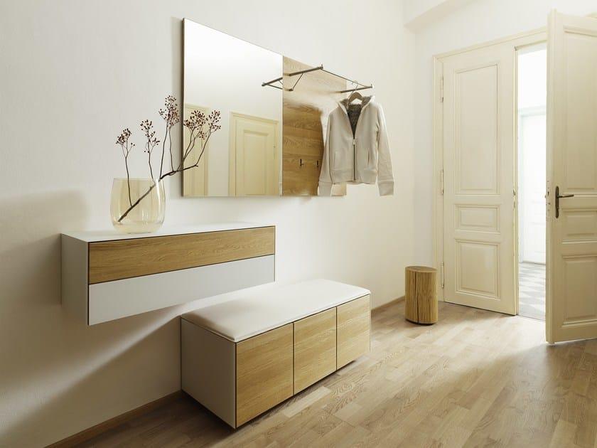 Wall-mounted solid wood hallway unit CUBUS PURE | Sectional hallway unit - TEAM 7 Natürlich Wohnen