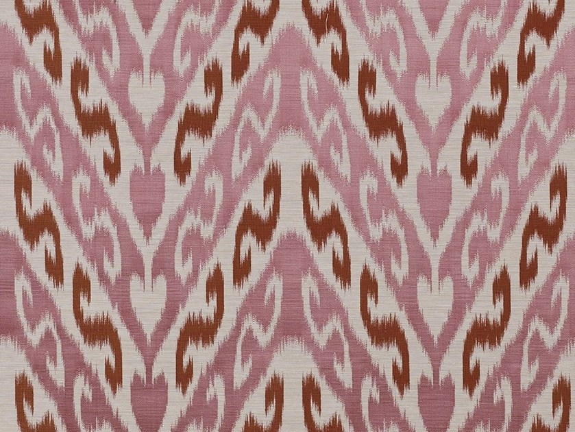 Iridescent jacquard fabric with graphic pattern SILKYWAY by Dedar