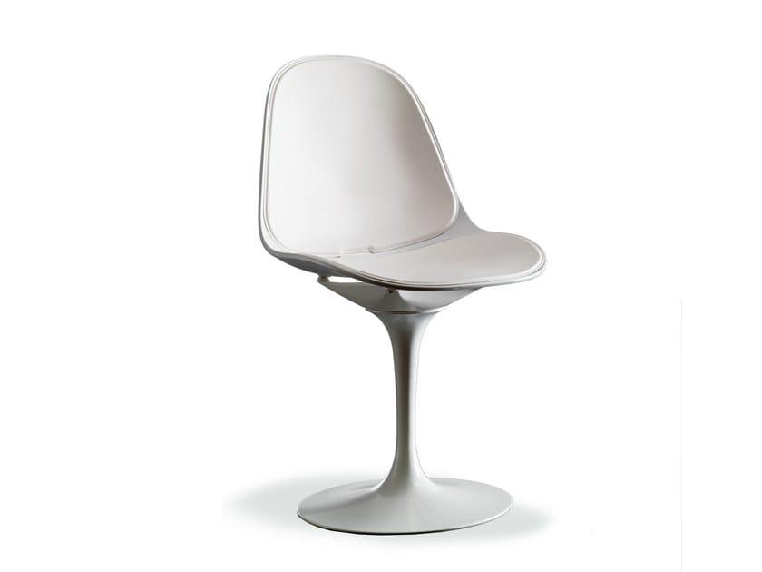 Swivel leather chair NICLA - Bontempi Casa