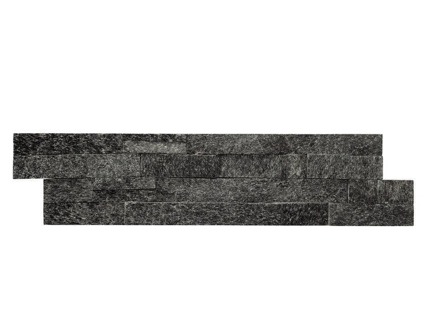 Outdoor quartzite wall tiles QUARZITE NERA - GRANULATI ZANDOBBIO