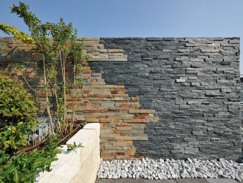 Outdoor slate wall tiles ARDESIA NERA | Wall tiles - GRANULATI ZANDOBBIO