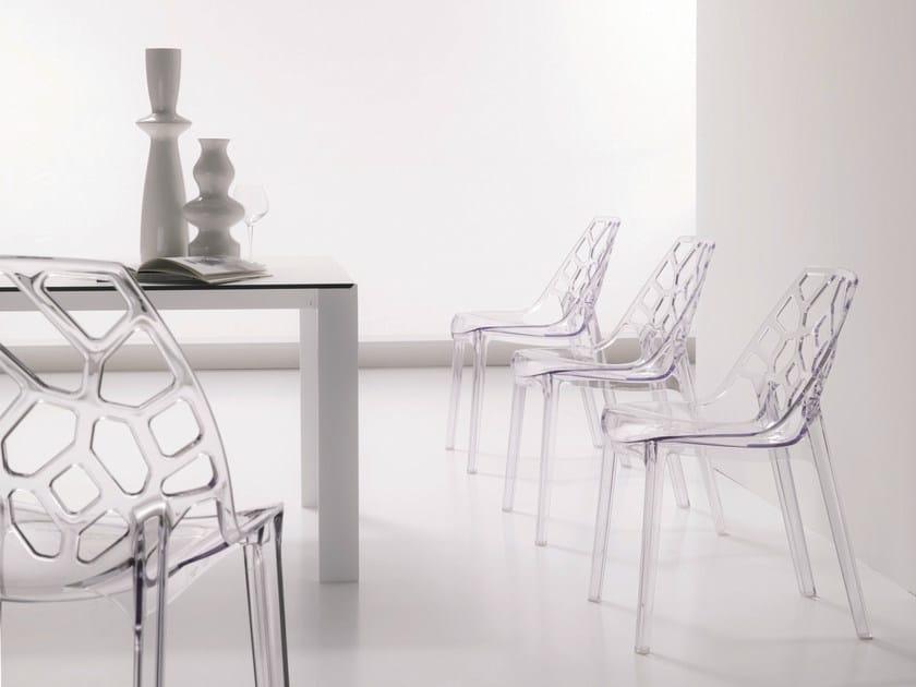 Polycarbonate chair SPIDER by Bontempi Casa
