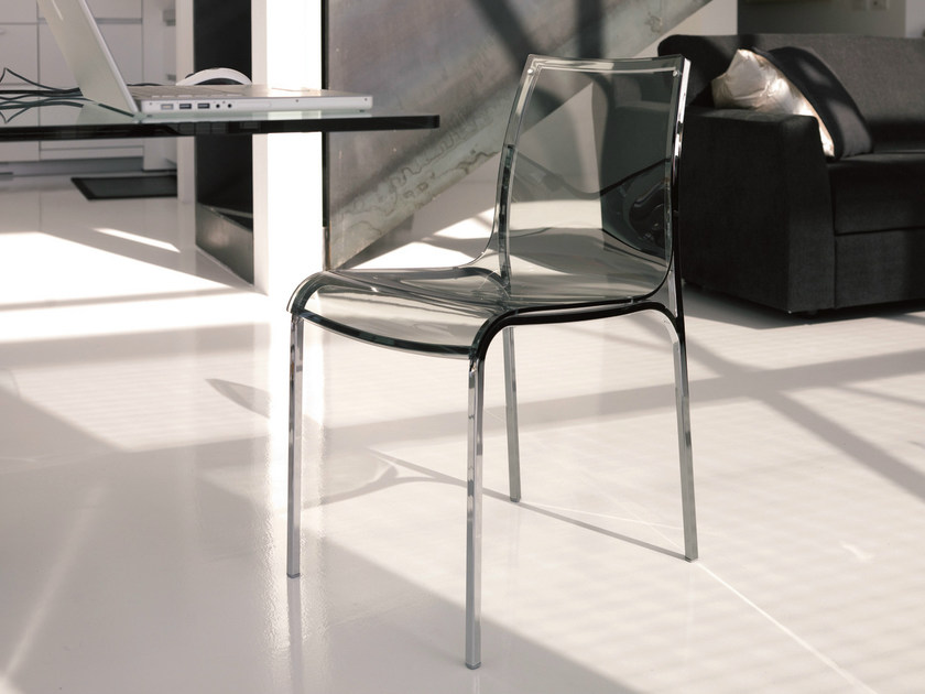 Acrylic glass chair YOGA - Bontempi Casa