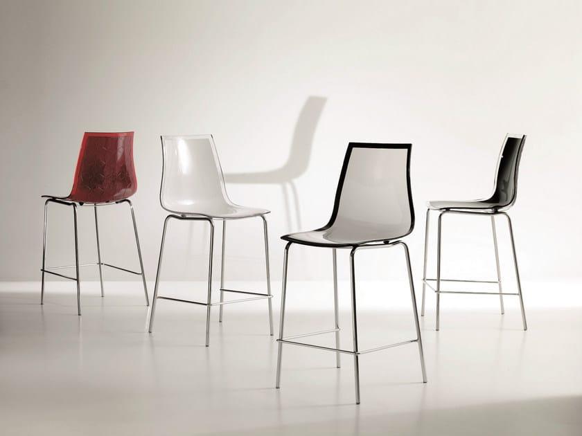Polycarbonate counter stool LEYLA | Counter stool - Bontempi Casa