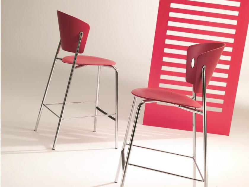 Polypropylene counter stool GIÒ | Counter stool - Bontempi Casa