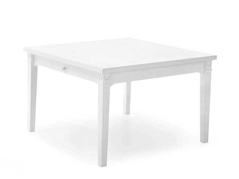 Square solid wood table ENGLISH MOOD | Square table by Minacciolo