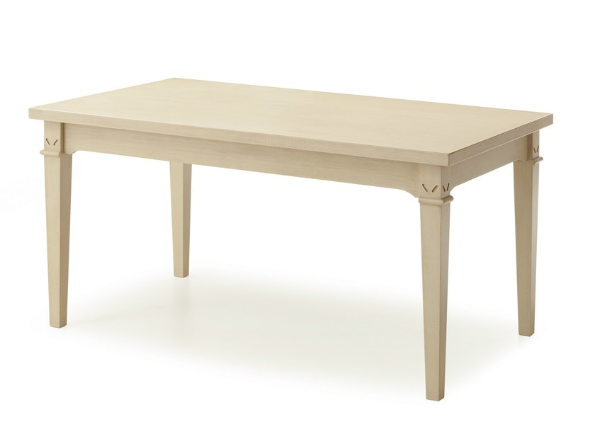 Solid wood table ENGLISH MOOD | Rectangular table - Minacciolo