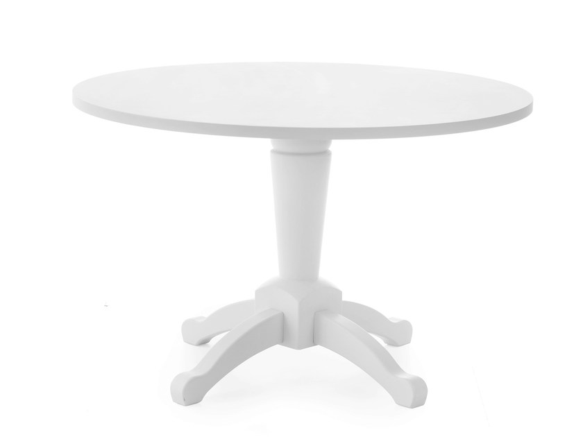 Round solid wood table ENGLISH MOOD | Table - Minacciolo