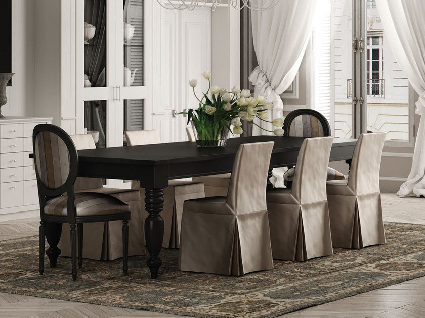 Extending rectangular table TORCIGLIONE | Solid wood table - Minacciolo