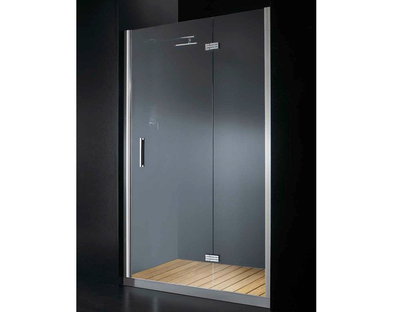 Niche glass shower cabin with hinged door with tray ELITE B08 by RARE