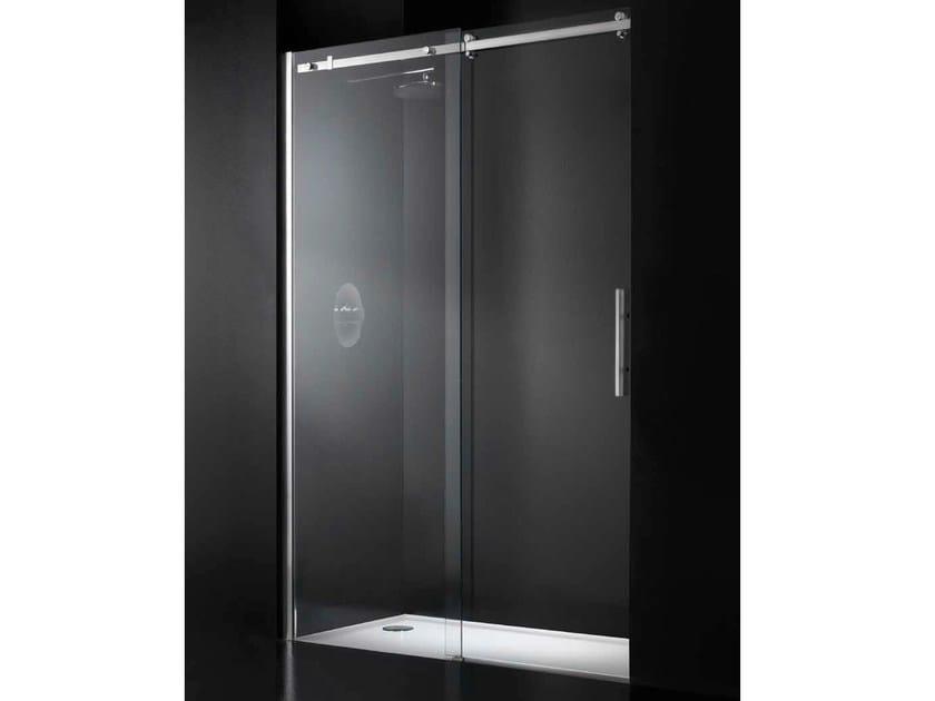 Niche crystal shower cabin with sliding door ESSENZA G11 - RARE
