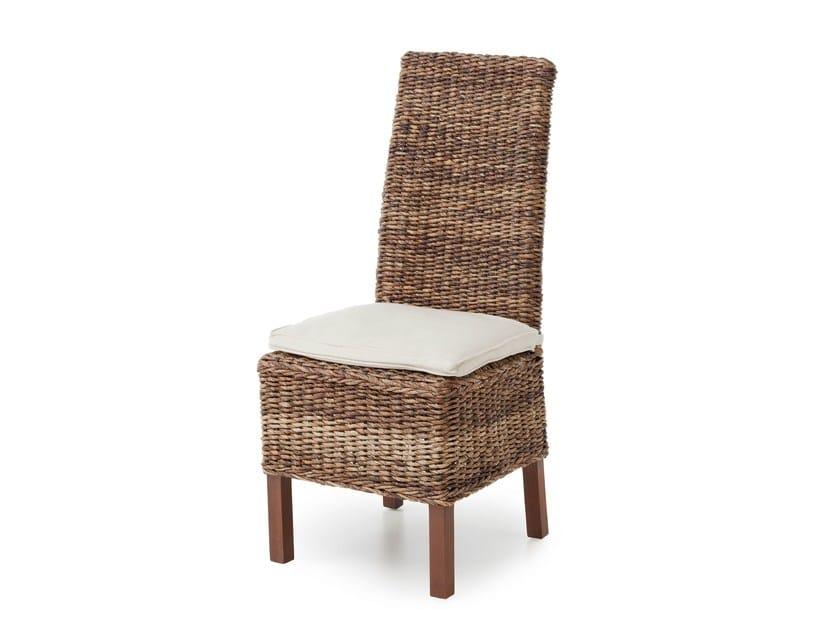 High-back banana-leaf chair FIJI - Minacciolo