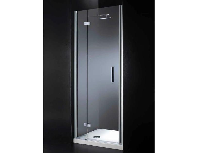 Niche rectangular crystal shower cabin with hinged door RETTANGOLO B08 - RARE