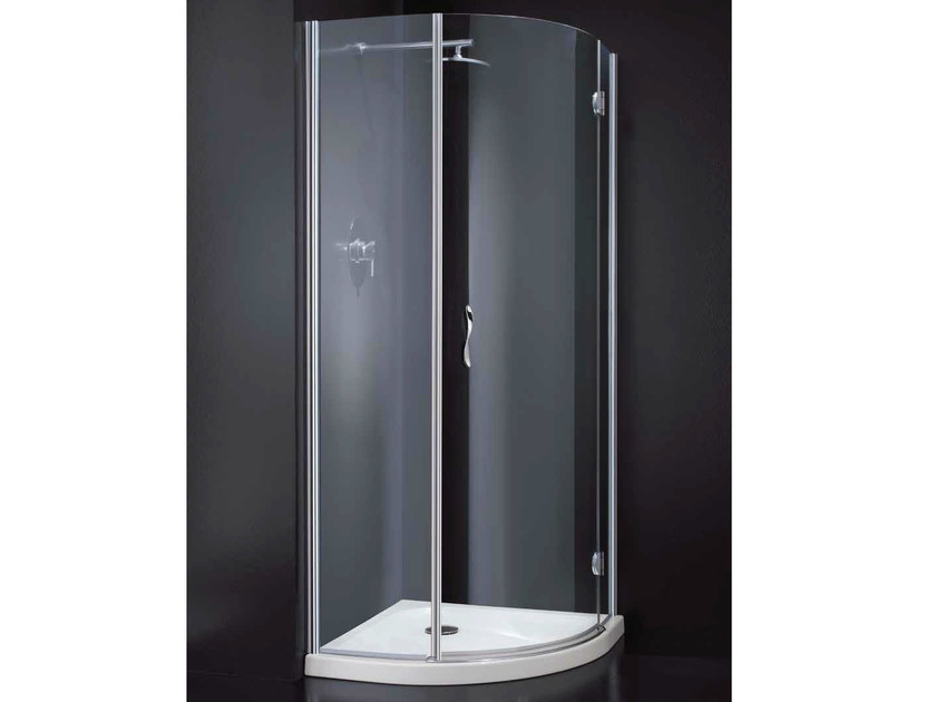 Corner semicircular crystal shower cabin LIGHT A10 790 - RARE