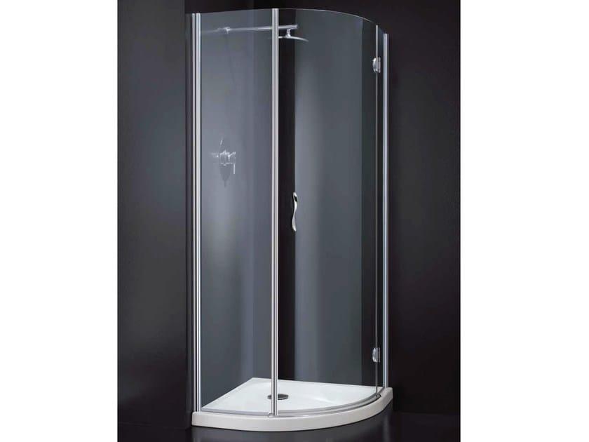 Corner semicircular crystal shower cabin LIGHT A10 790 by RARE