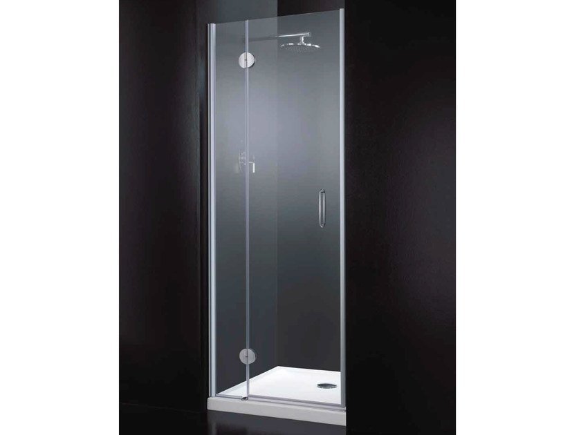 Niche rectangular crystal shower cabin with hinged door LIGHT B08 by RARE