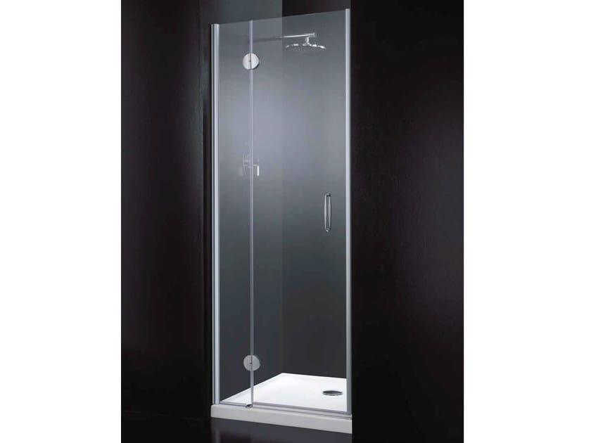 Box doccia a nicchia rettangolare in cristallo con porte a ...