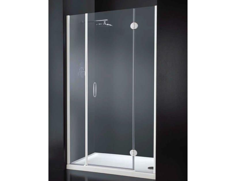 Niche rectangular crystal shower cabin with hinged door LIGHT B09 - RARE