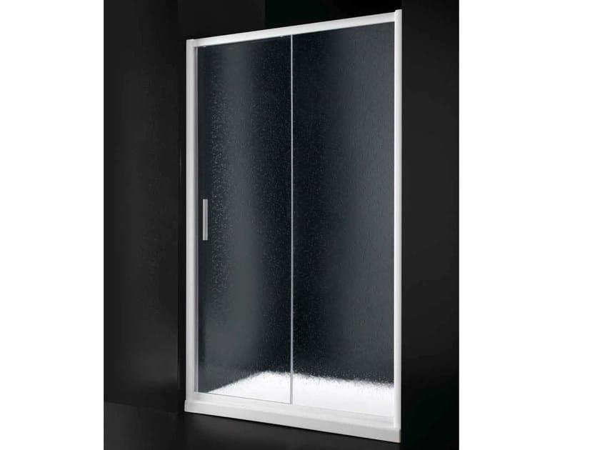 Niche acrylic glass shower cabin with sliding door AMERICA B03 - RARE