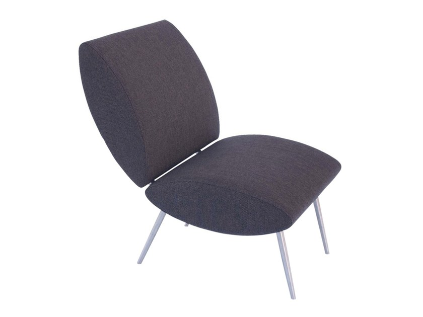 Upholstered fabric easy chair ALCANZAR - AZEA