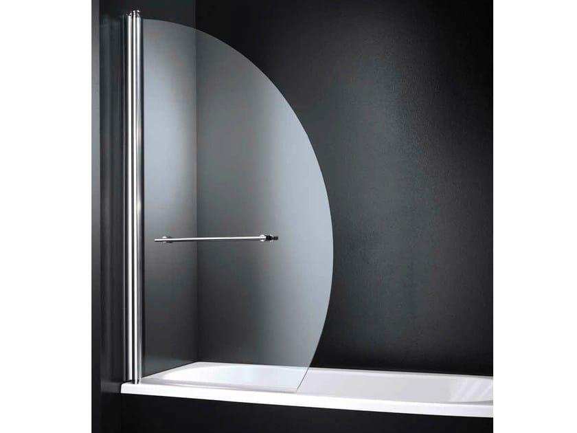 Folding glass bathtub wall panel SEGNO D05 by RARE