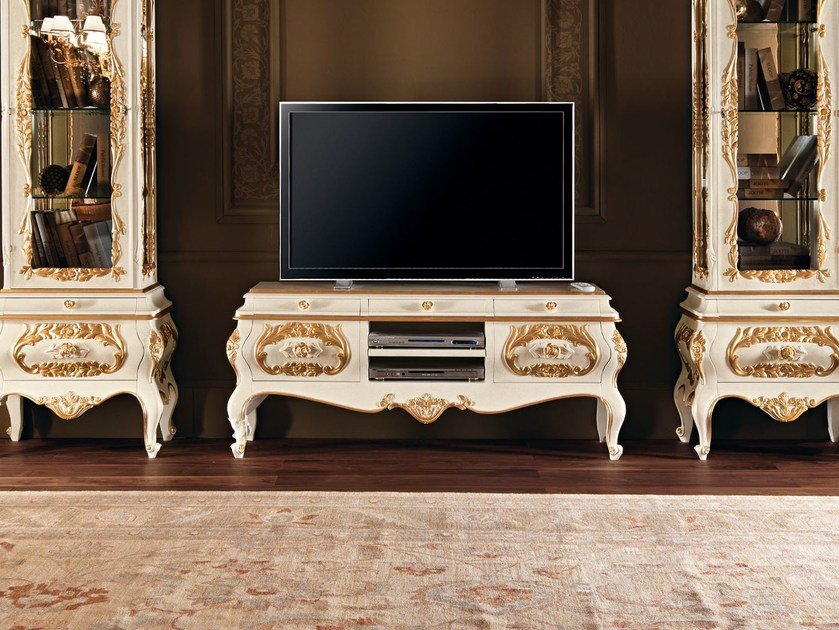 Solid wood TV cabinet 11105 | TV cabinet - Modenese Gastone group