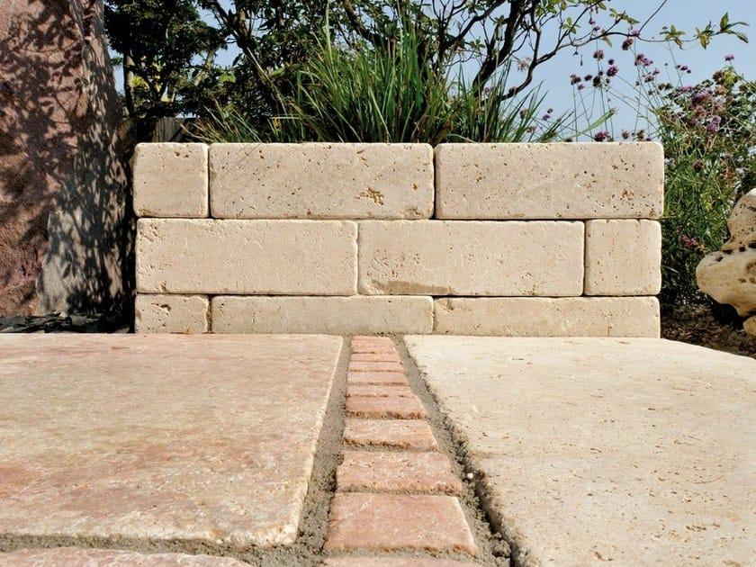 Natural stone load-bearing block TRAVERTINO ROSA by GRANULATI ZANDOBBIO