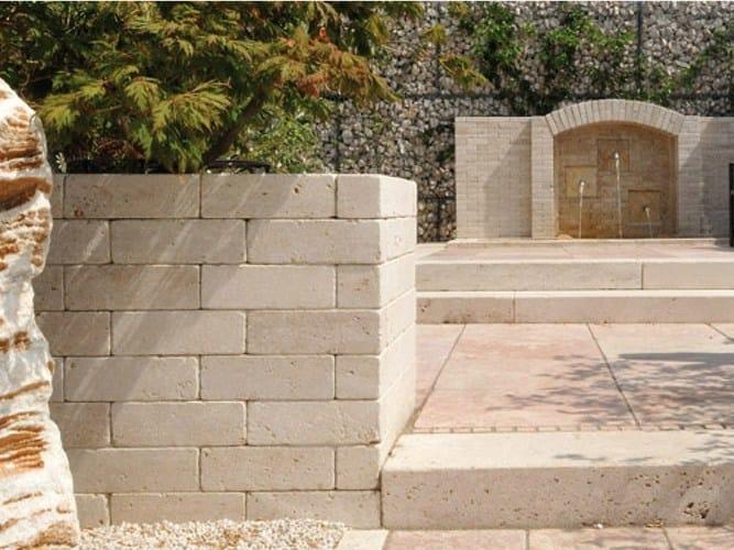 Blocchetto per muretti in pietra trani granulati zandobbio - Muretti in pietra giardino ...