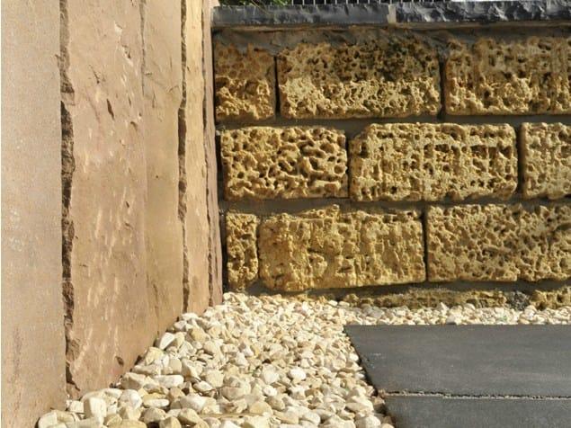 Natural stone load-bearing block CASTLE BLOCK - GRANULATI ZANDOBBIO