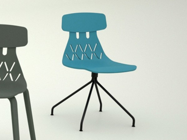 Trestle-based multi-layer wood chair MILLA | Trestle-based chair by Crassevig