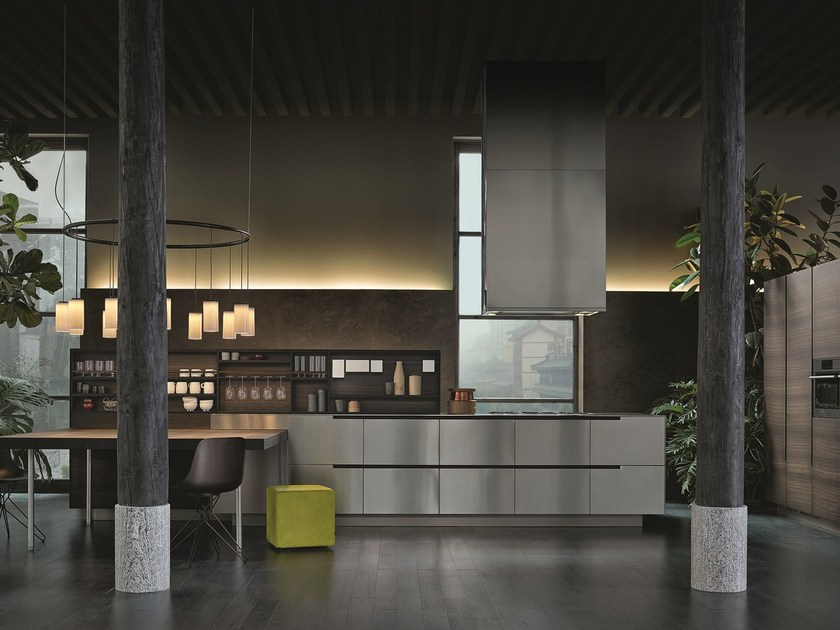 Cucina laccata in legno ALEA - Varenna by Poliform
