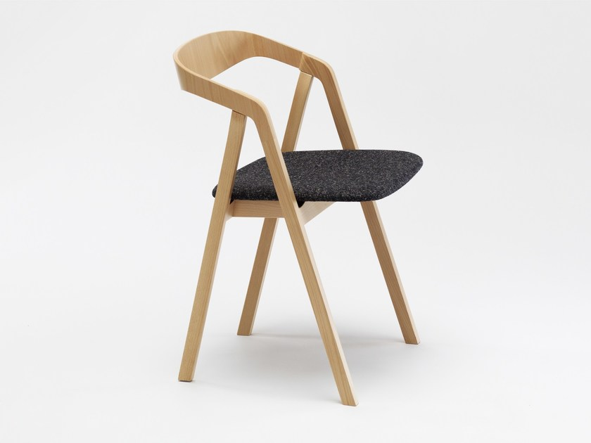 Upholstered stackable chair STA | Upholstered chair by Zilio A&C