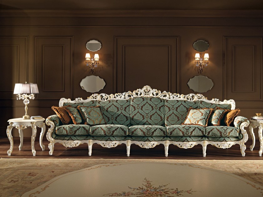 5-seat sofa hardwood furnish house living room - Villa Venezia Collection - Modenese Gastone