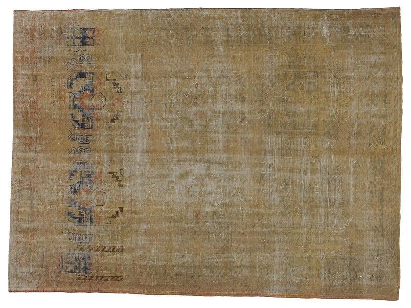Vintage style handmade rectangular rug DECOLORIZED WHITE - Golran
