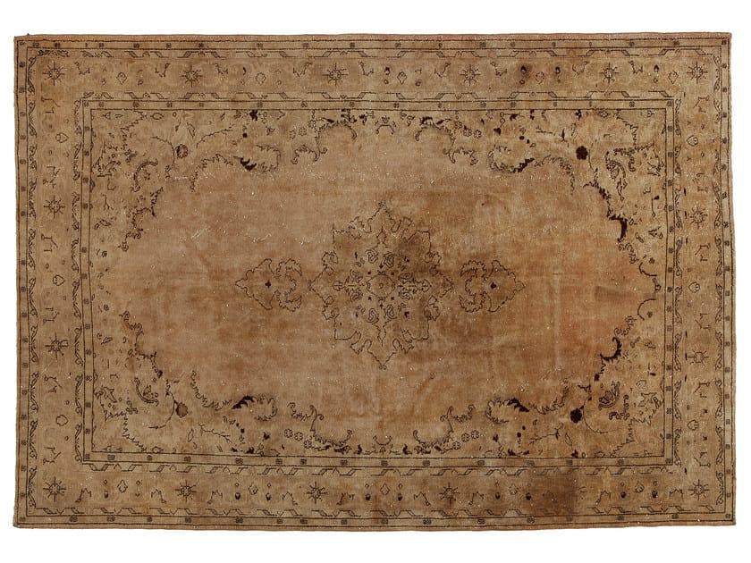 Vintage style handmade rectangular natural fibre rug DECOLORIZED BEIGE - Golran