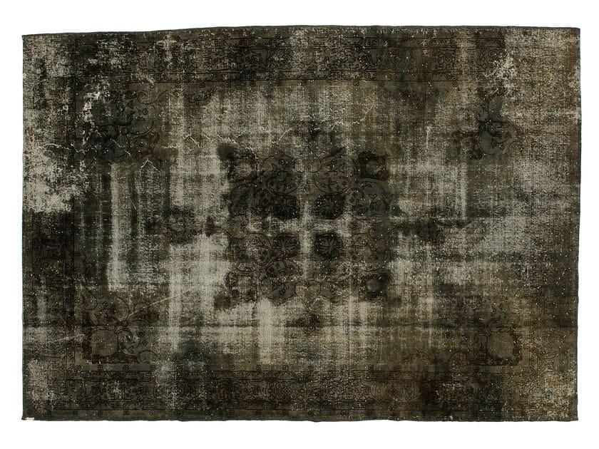 Vintage style handmade rectangular rug DECOLORIZED GREY by Golran