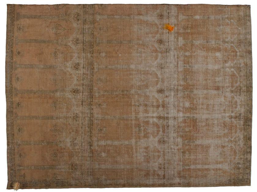Vintage style handmade rectangular rug DECOLORIZED MOHAIR BEIGE - Golran